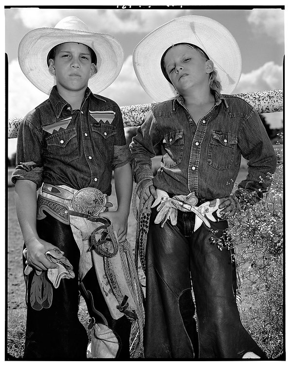 03 Craig Scarmardo and Cheyloh Mather at  Boerne Rodeo. Texas, 1991.jpg