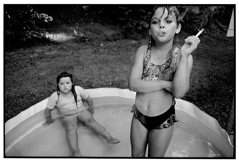 02 Amanda and her cousin Amy. Valdese, North Carolina, 1990.jpg