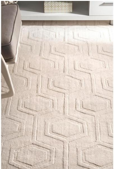 Ambrose Geometric Ivory 7 ft 6in. x 9 ft 6in. Area Rug