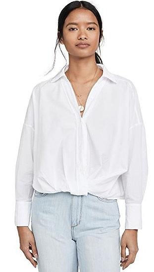 Poplin Twist Front Shirt