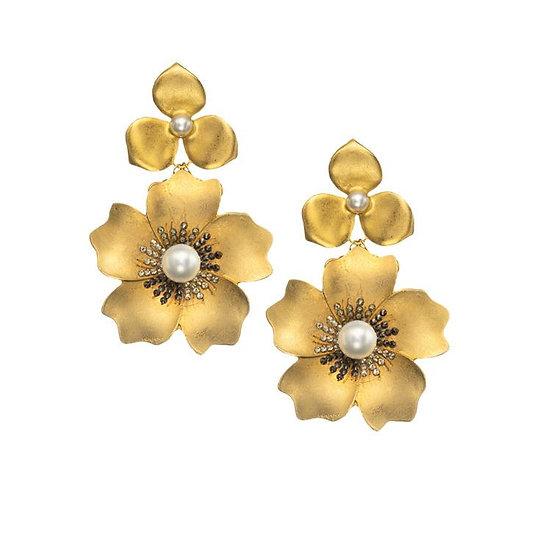 Gold Flower Earring