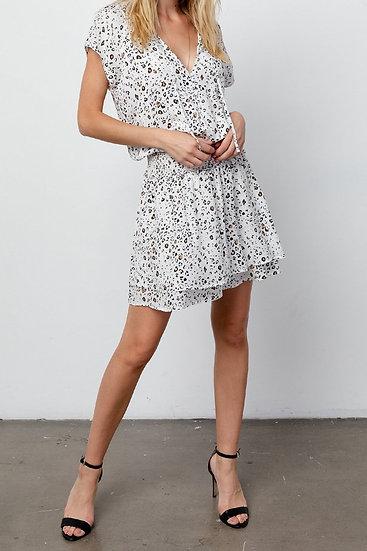 Karla White Mocha Leopard Dress