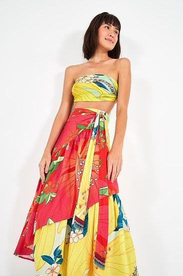 Mixed Pietra Midi Skirt