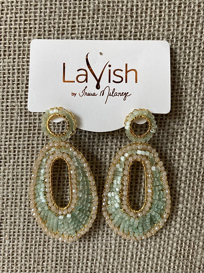 Mint Crochet Earring