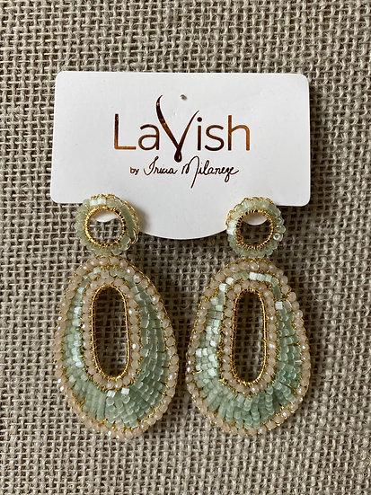 Mint Crochet Earring