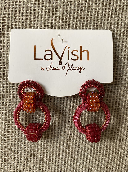 Red Small Interlocked Earring