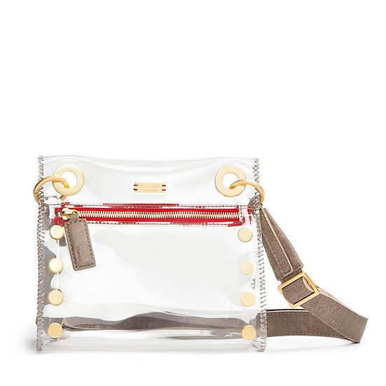 Tony-Clear/Brushed Silver Crossbody