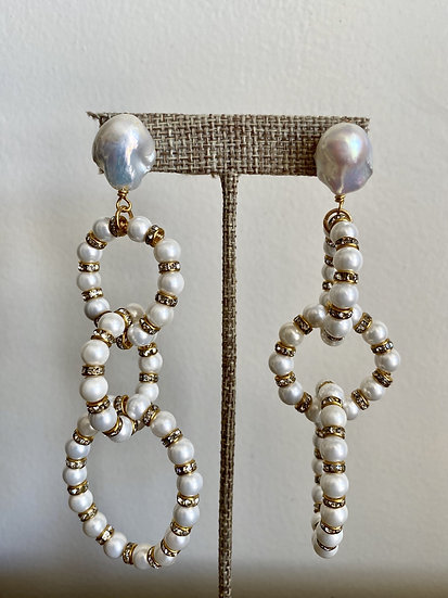 Pearl Circle Earring