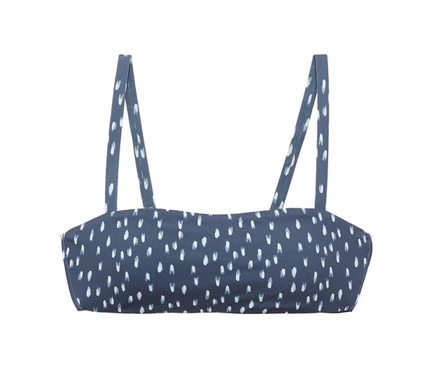 Ikat Stroke Flora Bikini Top