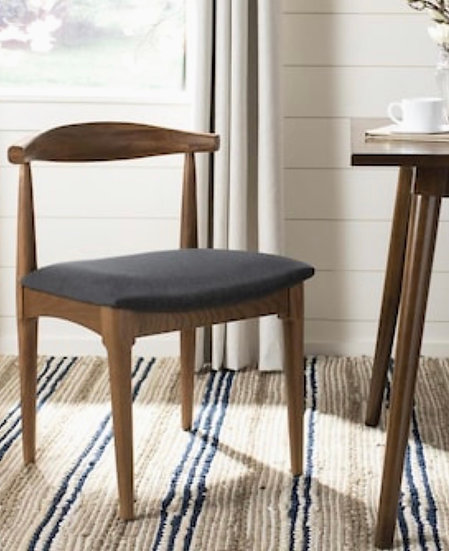 Set of 2 Safavieh Lionel Contemporary Upholstered Side Chair (Wood Frame)