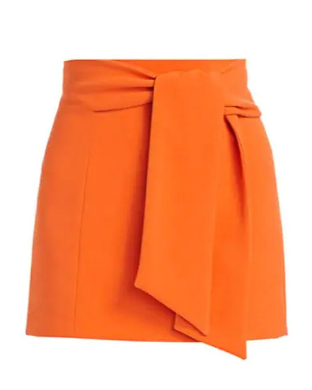 Riva Tie-Waist Mini Skirt