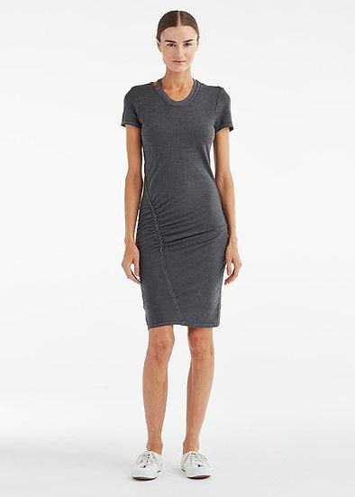 Ruched Seam Tee Shirt Dress