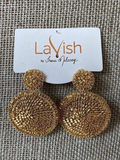 Gold Mandala Earring