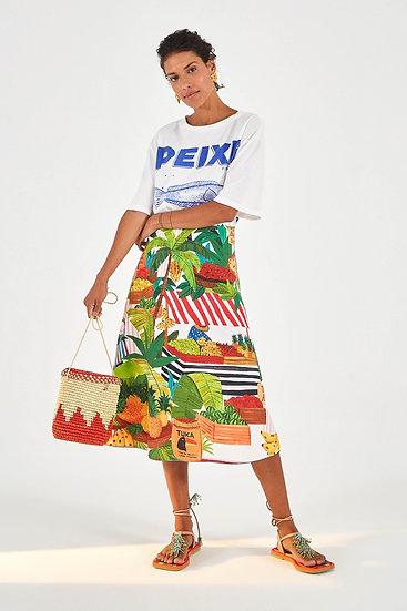 Tropical Fair Midi Skirt