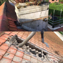 1st Chimney removed