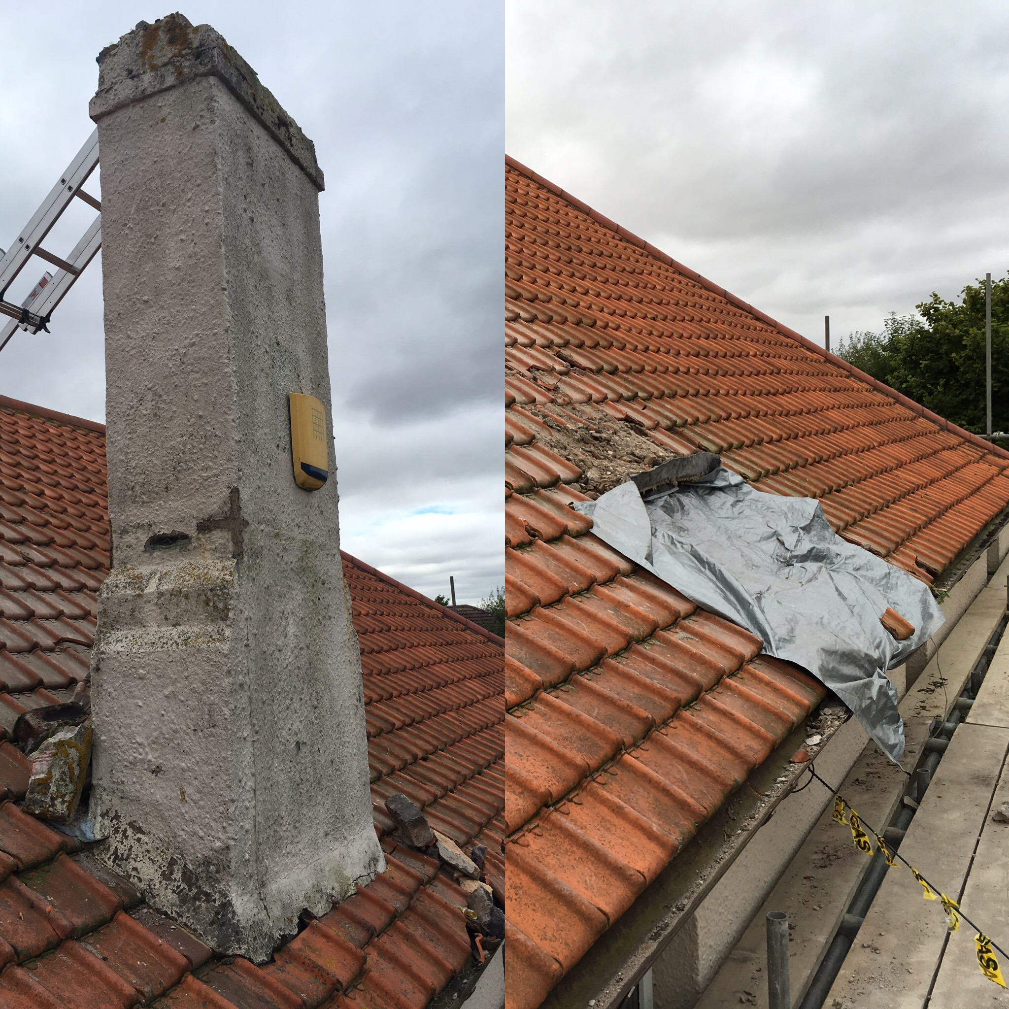 2nd Chimney Removed
