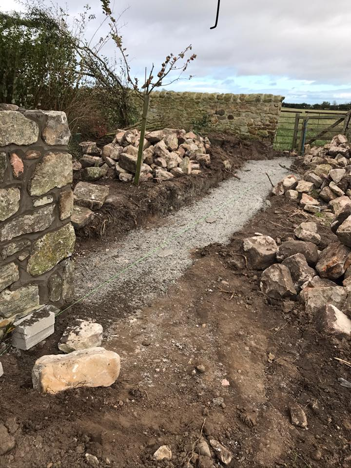 Stone Wall - Before