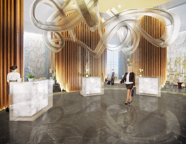 Dusit Thani Hotel LobbyWest Bay