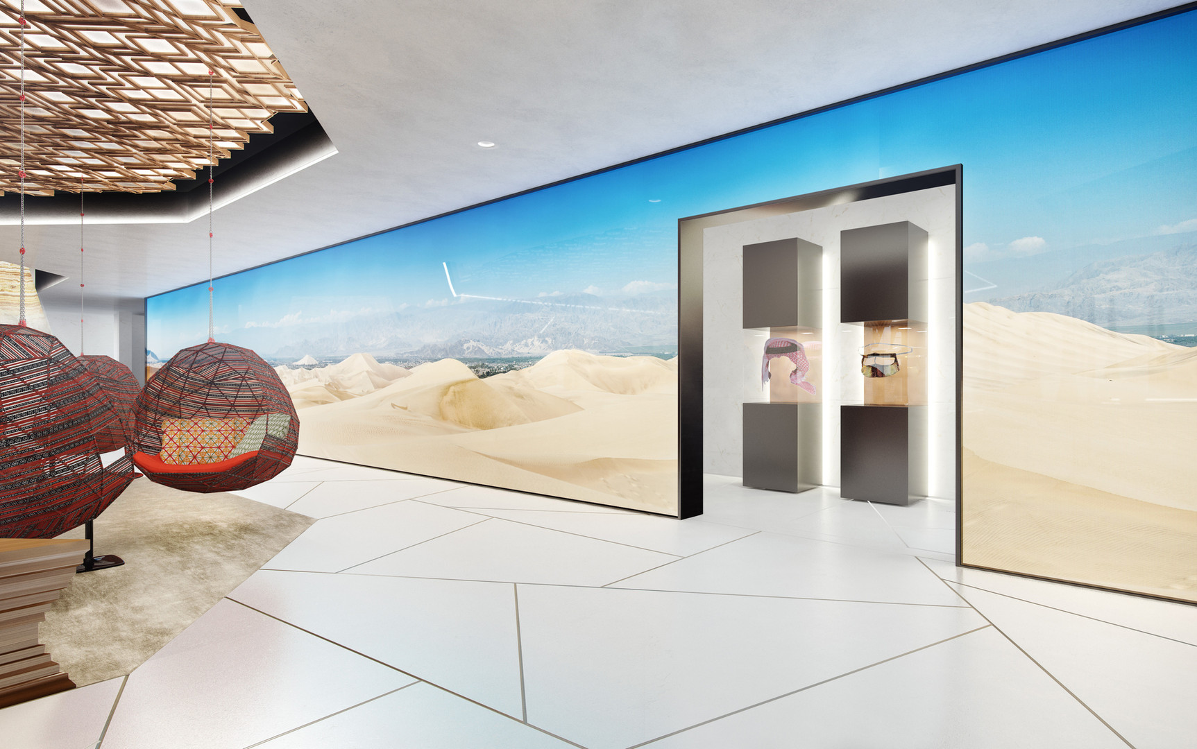 Interactive Dune Feature Wall