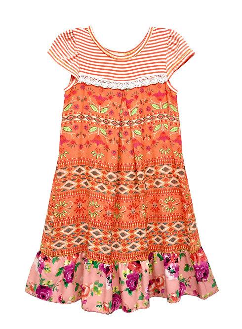 SK2290 Yoke Baby Doll Ruffle Dress