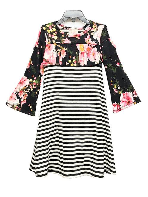 SK2246 Cold Shoulder Flounce Dress