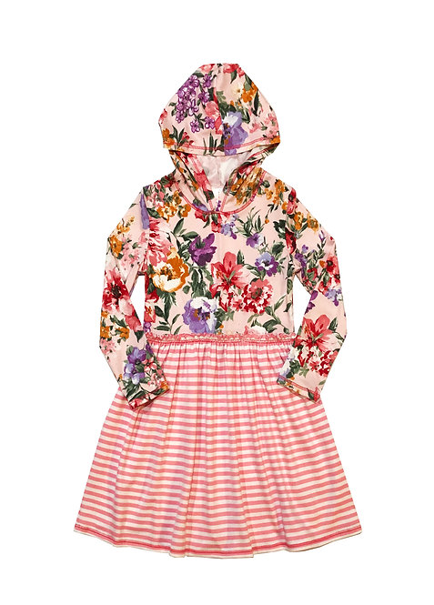 VX3710 Flora Pink Hoodie with Stripe Skirt
