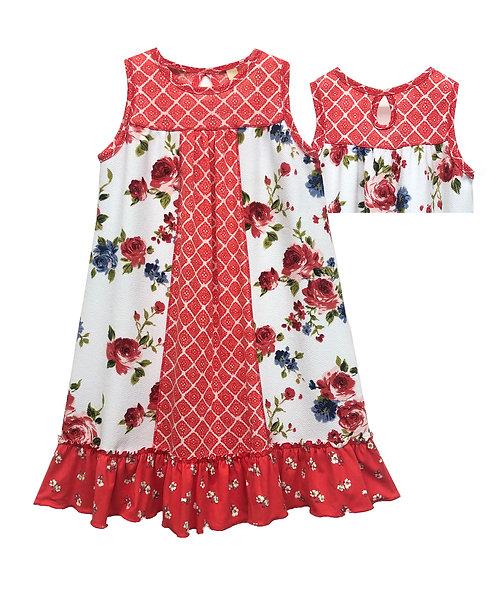 Sleeveless Keyhole Neck Dress - XK2117QV