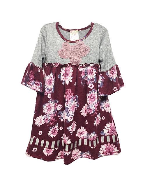 VX2195UR Bell Ruffle Sleeve Baby Doll Dress