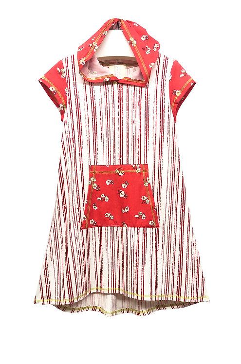 Orange Striped Hoodie Dress - SK2234QK