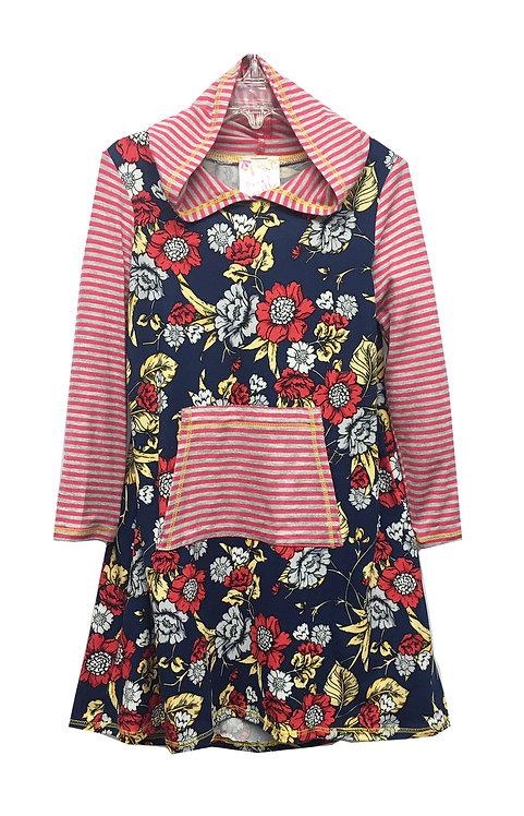 SK2196SG Hoodie Front Pocket Dress