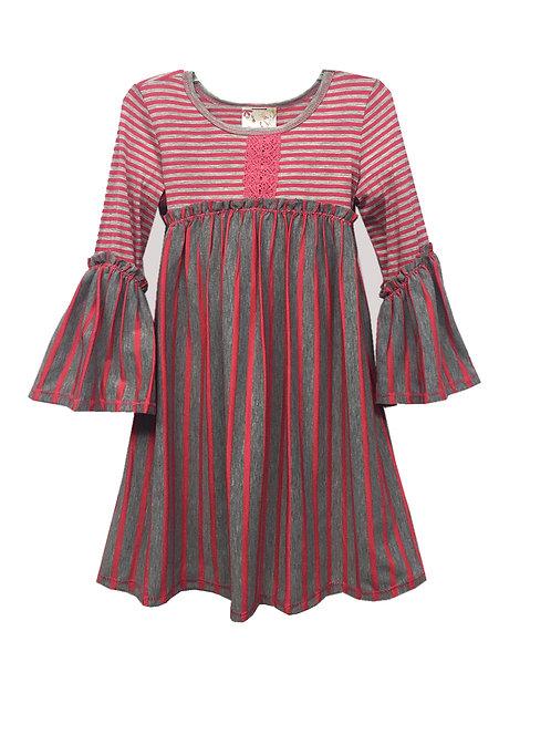 TK3642AJ Empire Waist Baby Doll Dress
