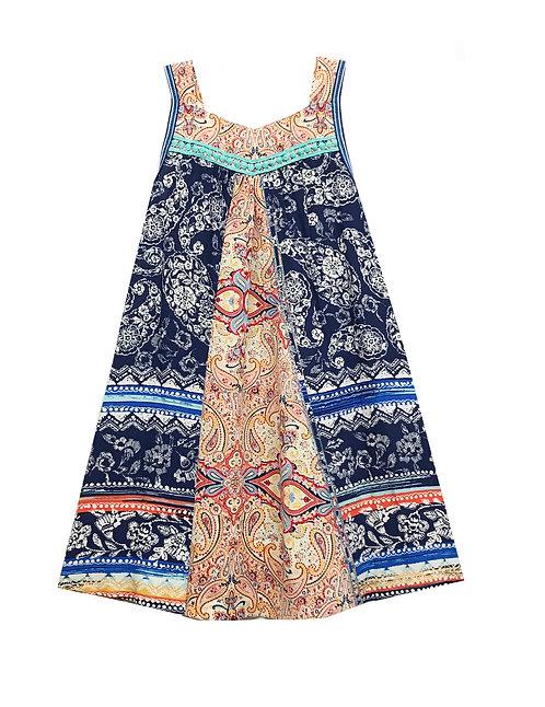 SK2131 Center Panel Sleeveless Dress