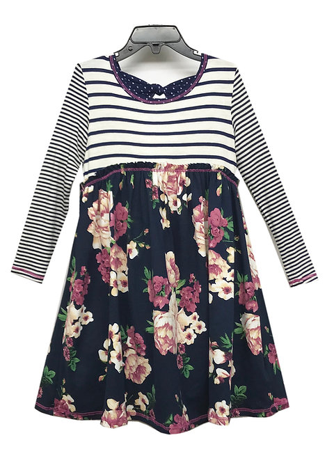 SK2264 Bow Back Long Sleeve Dress