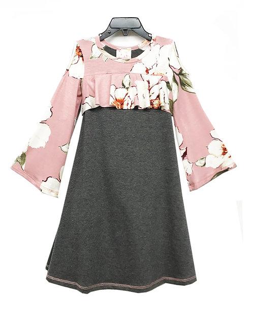 Cold Shoulder Flounce Dress XK2192TY