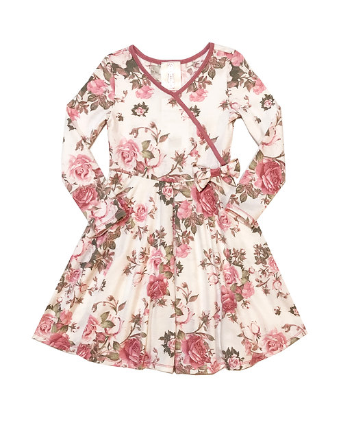 VX3704WR Rose French Terry Dress