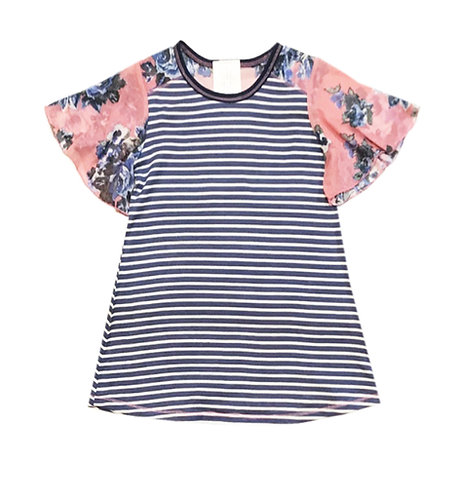 SK2274 Mesh Flutter Short Sleeve Top