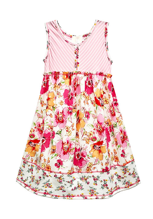 SK2294 Bias Front Baby Doll Dress