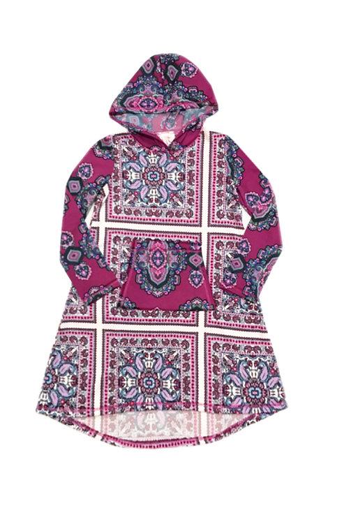 SK2268 Long Sleeve Pocket Hoodie Dress