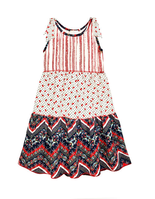 SK2292 Tiered Skirt Sleeveless Dress