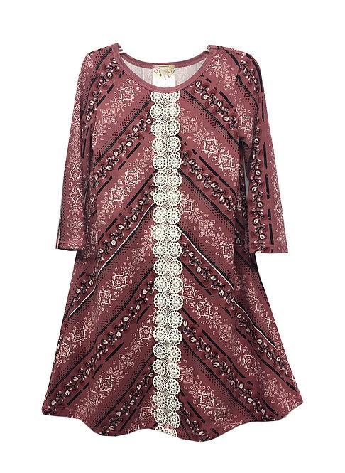 VX2135TM A-Line Lace Front Dress