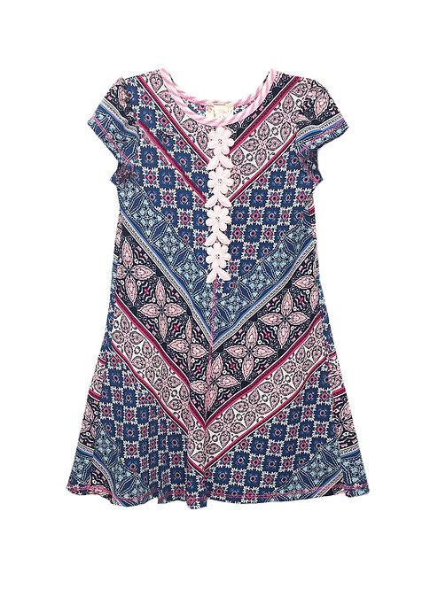 VX2120RQ A-Line Geo Print Dress