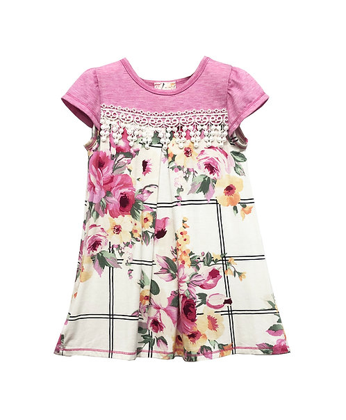 Pink and Ivory Floral Top - RX1071VX