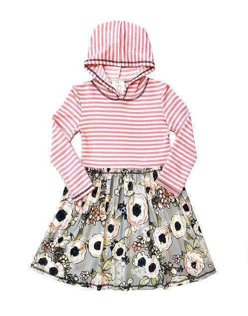 VX3710UO Blush Grey Hoodie Dress