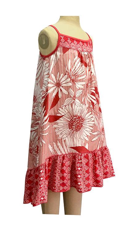 Coral Ruffle Sleeveless Dress- SK2132