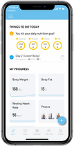 Fired Upp Fitness app Client Dashboard