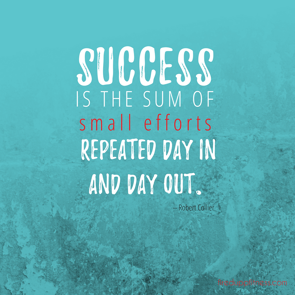 Success is the sum of small efforts repeated day in and day out.