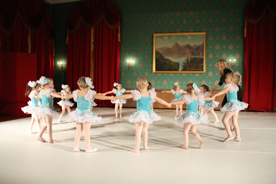 Mini Ballerinas On Stage