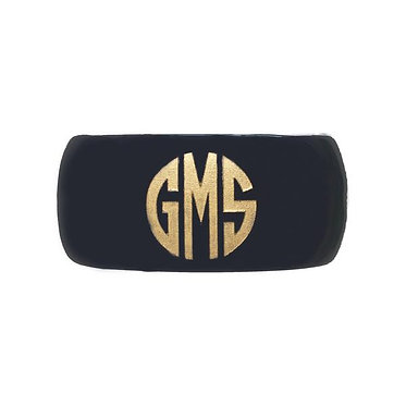 Monogram Custom Cuff Bracelet Black