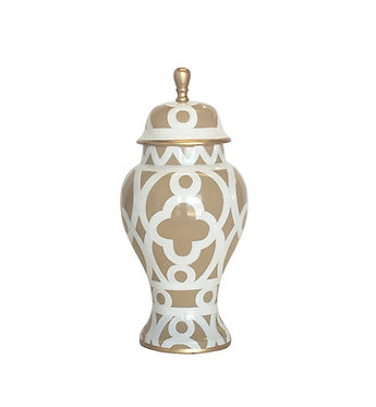Ginger Jar - Small Taupe Ming