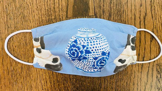Ginger Jar Staffordshire Dog Pair Face Mask - Multiple Sizes - Filter or